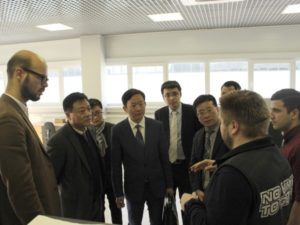The Chinese Laser Association President Visiting TechnoSpark