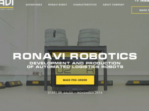 Russian Company Ronavi to Produce 100 Logistic Robots in 2019